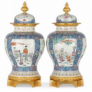 pair, of, chinese, export, porcelain, vases, with, ormolu, mounts