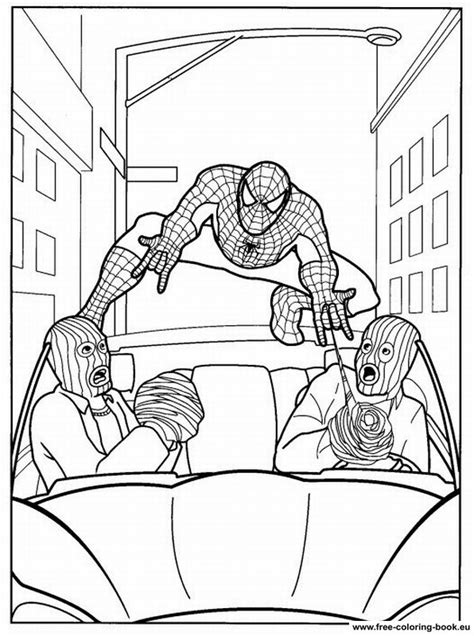 coloring pages spiderman page  printable coloring