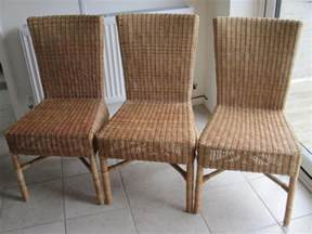 ikea rattan bamboo dining chairs 3 in uckfield friday ad