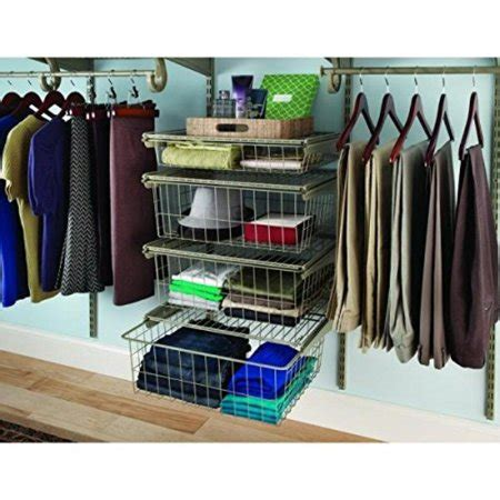 Closetmaid Drawer Kit - closetmaid shelftrack 21 in x 17 in ventilated wire 4