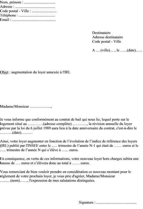 modele de lettre préavis 1 mois modele preavis logement rsa document