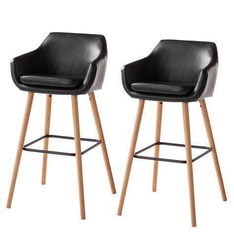 lot chaise de bar chaise de bar nicholas i lot de 2 imitation cuir ch 234 ne massif noir morteens