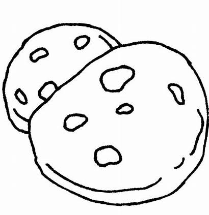 Cookie Coloring Chocolate Pages Chip Cookies Drawing