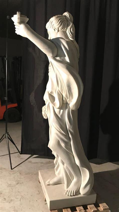 italian baroque white marble sculpture   trevi
