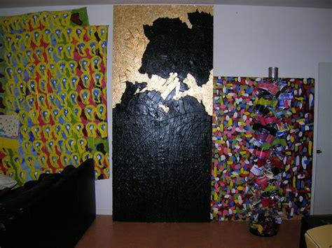 ulien prado peinture abstraite collage sur toile et