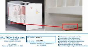 Lit Bébé Carrefour : lit b b tex baby carrefour produit au rappel ufc que choisir ~ Teatrodelosmanantiales.com Idées de Décoration