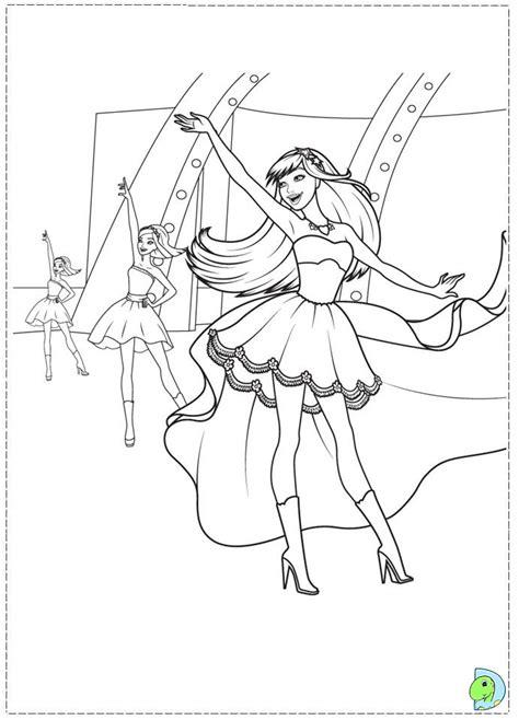 barbie  princess   popstar coloring page dinokidsorg