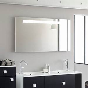 miroir salle de bain sanijura reflet sens deco et saveurs With miroir salle de bain avec heure