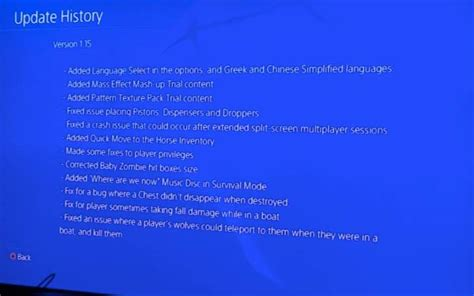 minecraft ps  notes  update product reviews net