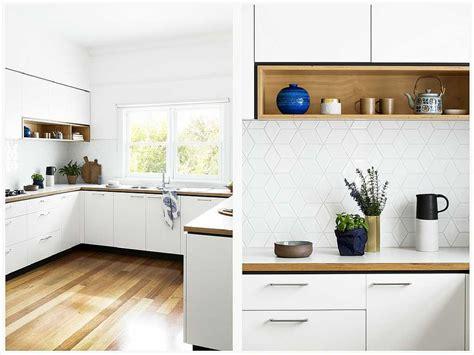 cocinas blancas  madera imagenes planos negras modernas