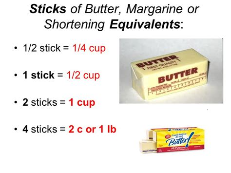 how much is two sticks of butter abbreviations food weights and measures ppt video online download