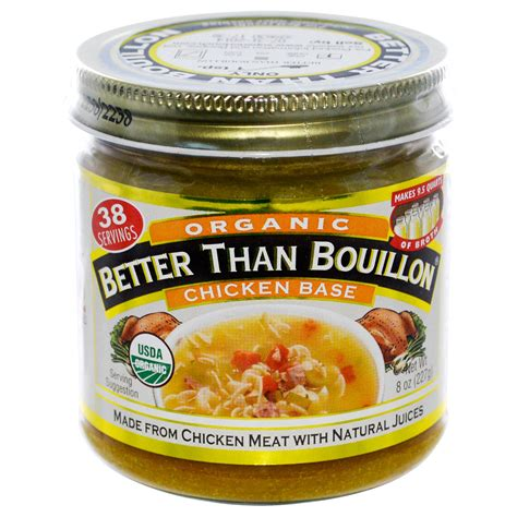 bouillon cuisine better than bouillon organic chicken base 8 oz 227 g