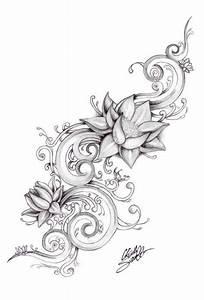Simple Lotus Flower Stencil Tattoo Design | Golfian.com