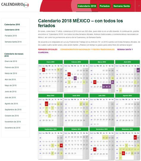 mis proyectos calendario  mexico  todos los feriados