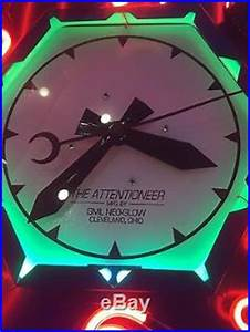 Attentioneer light up clock Electric neon clock vintage