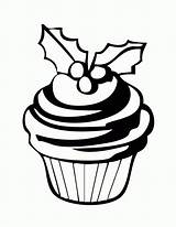 Cupcake Coloring Pages Printable Cupcakes Outline Holiday Birthday Outlines Cup Cake Drawing Template Sheets Clip Cliparts Christmas Cakes Holidays Bestcoloringpagesforkids sketch template