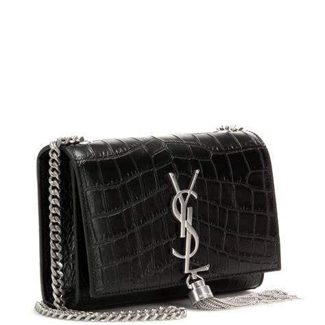 saint laurent classic monogram embossed leather shoulder