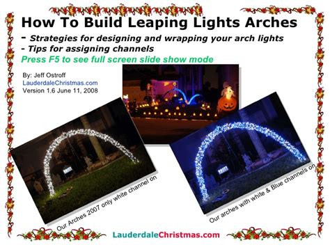 how to build a christmas arch how to build leaping light arches