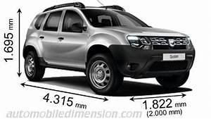 Dimension Duster 2018 : dimensions of dacia cars showing length width and height ~ Medecine-chirurgie-esthetiques.com Avis de Voitures