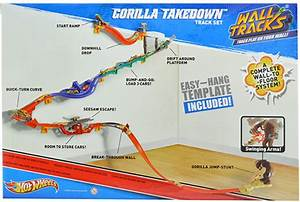 hot wheels gorilla takedown wall to floor action track With hot wheels wall tracks template