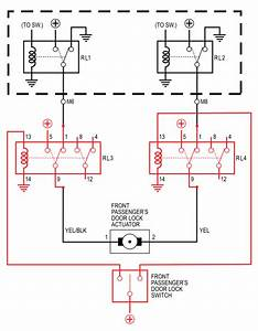 Door Lock Actuator Wiring Diagram