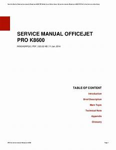 Hp Officejet Pro 8500 Service Manual Pdf