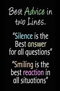 Best Wallpapers... Smile N Silence Quotes