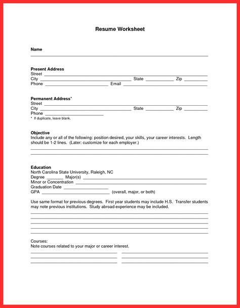 resume template good resume format