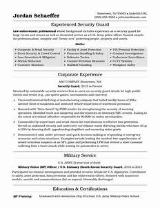 security guard resume sample monstercom With cv template for security guard