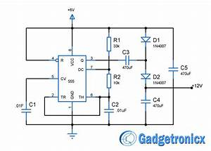Voltage Doubler Circuit Using Ic555