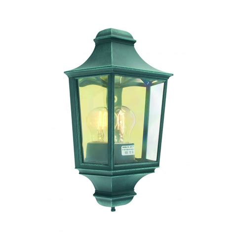 elstead lighting turin flush outdoor wall light in