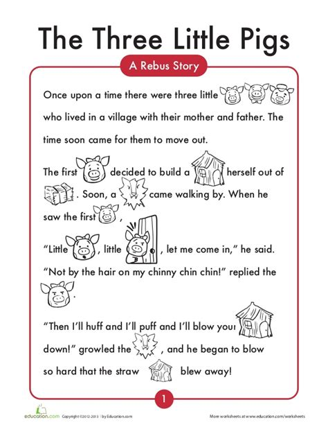 3 little pigs English worksheets
