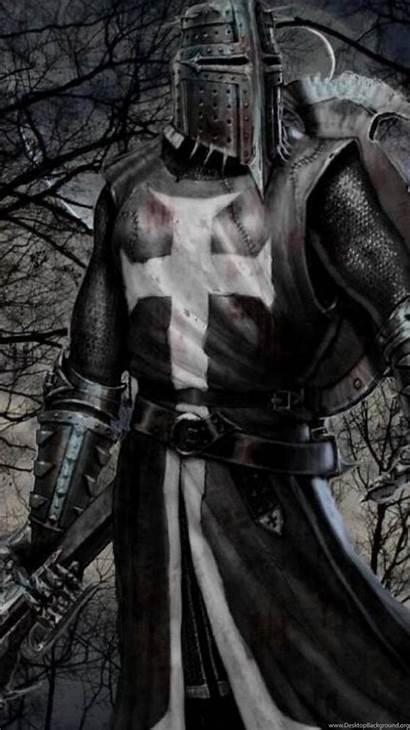 Templar Knights Medieval Fantasy Wallpapers Swords Trees