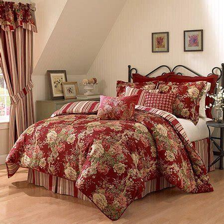 Ivory Bed Bag Luxury 7 Waverly Ballad Bouquet 4 Piece Comforter Set Walmart Com