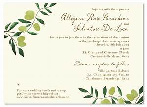 olive de toscane premium recycle paper wedding and With wedding invitations wording in italian