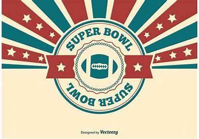 Bowl Super Vector Superbowl Illustration Football Graphic