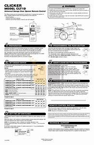 Download Free Pdf For Chamberlain Liftmaster 1255