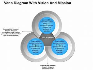 Venn Diagram With Vision And Mission Powerpoint Templates