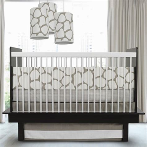 oilo studio cobblestone crib set taupe contemporary baby bedding by modern nursery