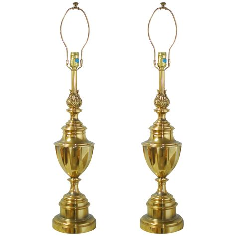 Stiffel Table L Models by Pair Of Stiffel Brass Trophy Urn Table Ls For Sale At