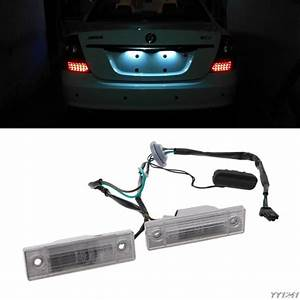 1 Pair Rear Back License Plate Light With Trunk Switch