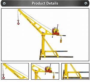 Construction Place Use Small Mini Lift Excel Engine Hoist
