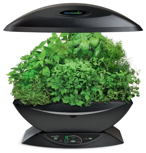 aerogarden classic 7 pod with gourmet herb seed kit black
