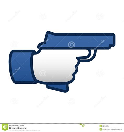 Like Thumbs Up Symbol Icon With Gun Stock Vector   Image: 52122828