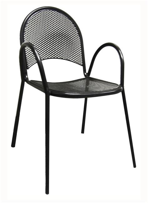 mesh back seat black outdoor chair