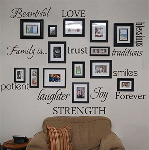 family words wall decal set   love trust blessing