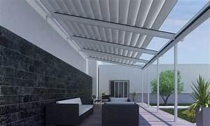 Balkon Windschutz Durchsichtig : glasdachlamellen terrasse wetterschutzrollos ~ Markanthonyermac.com Haus und Dekorationen