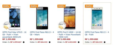 Info Harga Hp Merk Oppo harga spec 3 type hp oppo find android keluaran terbaru