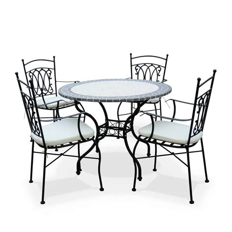 table ronde avec chaises emejing table de jardin ronde suisse pictures awesome