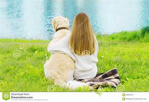 Silhouette of owner and golden retriever dog sitting for Dog day sitting
